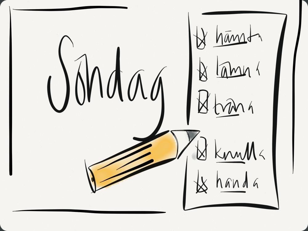 Söndagar är planeringens dag....